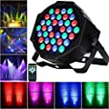 LED Par Lights Disco Lights AONCO 36W RGB Strobe Lights Spotlight 36LEDs Disco Ball Projector Control Sound/Auto/DMX512/Master Slave Mode Stage Lighting for Bar Music Party Concert Pub Club 36W