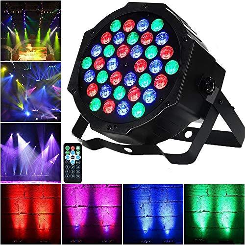 AONCO 36 LED Scheinwerfer Par Strahler, Discolicht, DJ Strobe Light, Bühnenbeleuchtung, Lampe, RBG mixing, 36W, DMX In/Out, 7 DMX Modi
