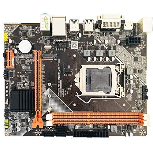 QiKun-Home H61 para Placa Base Conjunto de gráficos Integrados para Intel Core I7 / i5 / i3 / Pentium/Celeron Desktop USB 3.0 VGA DVI HDMI Compatible Negro