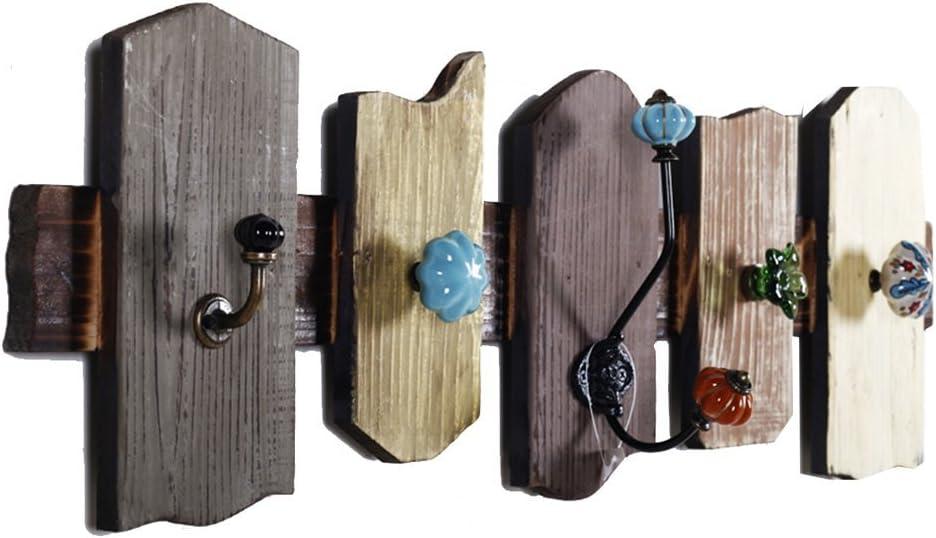 YELLAYBY Hook Nashville-Davidson Mall Mediterranean Retro Decorative Clothin Wooden Cheap sale