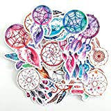 Navy Peony Dreamy Dream Catcher Stickers | Cute Waterproof Decals for Water Bottles, Laptops and Phones | Hippie Sticker Pack for your Scrapbook, Planners, Bullet Journals and Crafts (27pcs)