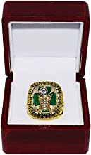 BOSTON CELTICS (Berele Zankel) 1986 NBA WORLD CHAMPIONS (Pride & Teamwork) Vintage Rare & Collectible High-Quality Replica NBA Basketball Gold Championship Ring with Cherrywood Display Box