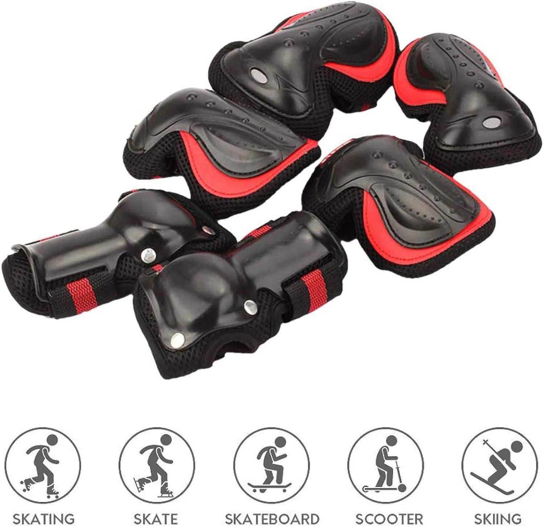 Skateboard-Knieschützer,Schutzausrüstung Sicherheit Schutz Knieschützer Ellbogenanzug für Erwachsene Kinder Indoor und Outdoor Roller,rot,S B07QWYXT22  Billiger als der Preis
