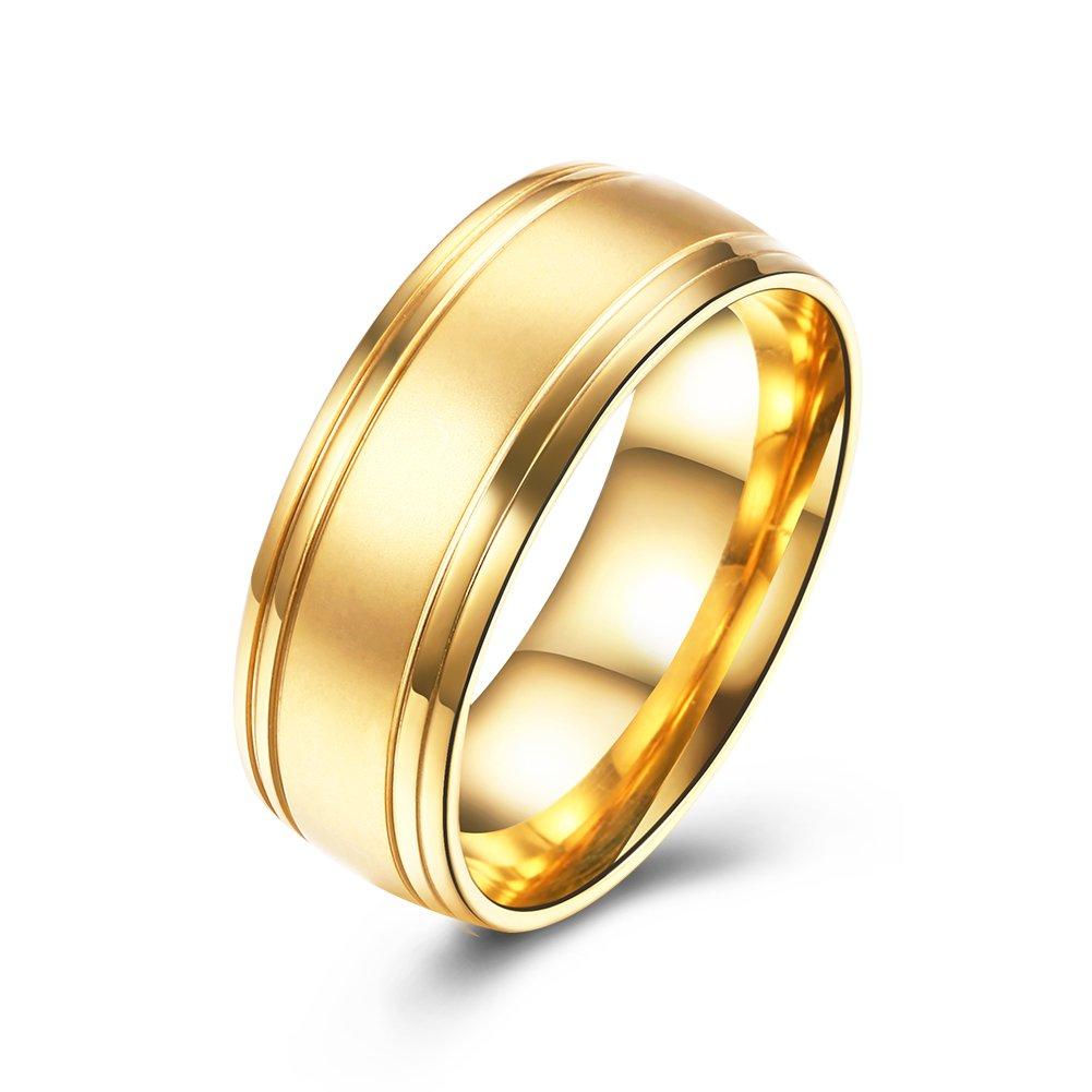 一杯部分的精神流行アクセサリー バレンタインデーのカップルの指輪 ステンレススタンダードリング アレルギーを防ぐ 色あせない