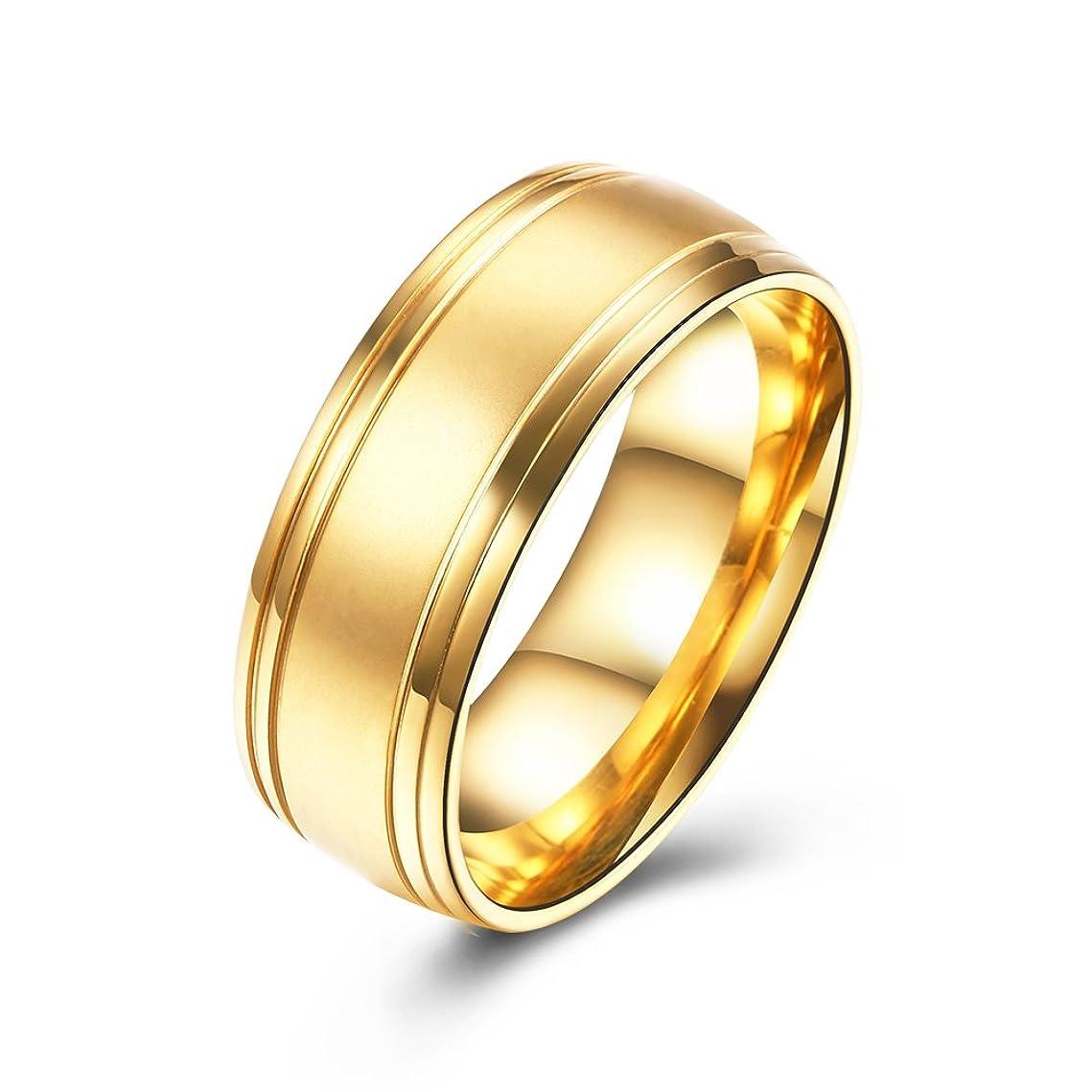 バン癒す値下げ流行アクセサリー バレンタインデーのカップルの指輪 ステンレススタンダードリング アレルギーを防ぐ 色あせない