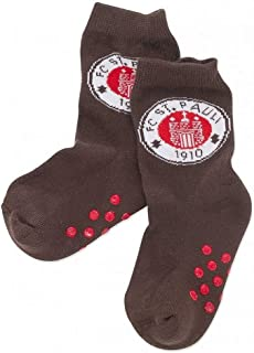 FC St. Pauli Logo, Baby-Socken braun