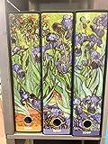 KAOS Juego de 3 Carpetas Van Gogh Iris