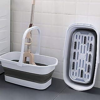 Trista Bassine Seau Pliable Pliant Grand Ménage Rectangulaire Portable en Plastique Seau De Stockage d'eau Pliable Vadroui...