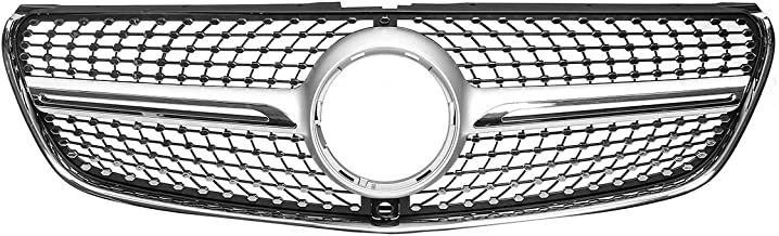 Oneuda Diamond Grill Mesh Car Front Bumper Grille Grill With Camera For Mercedes For Benz V Class W447 V250 V260 2015 2016 2017-2018