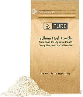 Psyllium Husk Powder (1 lb.) by Pure Organic Ingredients, Fiber Powder Supplement, Additive for Gluten-Free Baking