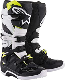 Alpinestars Tech 7 Boots-Black/White-10