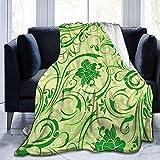 Biubiu-Shop Green Vine Ultra-Soft Fleece Decke Flanell Samt Plüsch Decke 50 x 40 Zoll