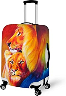 Nanmma Cute 3D Cool Cat Pattern Luggage Protector Travel Luggage Cover Trolley Case Protective Cover Fits 18-32 Inch