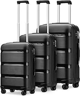 Kono Set de 3 Pièces Valise Rigide en Polypropylène Légere à 4 roulettes avec Serrure TSA Intégré Ensembles de Bagages 55/...