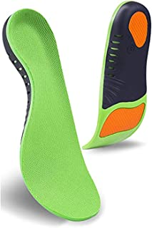 Monico Arch Support Shoe Insole, Super Support Foot Pain Relief, and Orthotics Feet Insoles, Deep U-Shaped Heel for Man Wo...