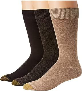 Gold Toe Premier Mens Micro Flat Knit 3PACK Dress Socks Asst Brown Color 10-13