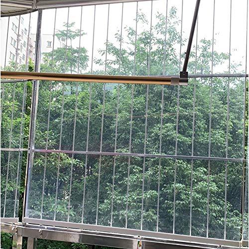 Tenda a Rullo Oscurante Gazebo Esterno a Rullo con Gancio Fisso, Tenda Avvolgibile Trasparente Antipolvere Impermeabile per Balcone Tagliato, Larghezza 100/120/140 cm ( Size : 140×220cm/55.1×86.6in )