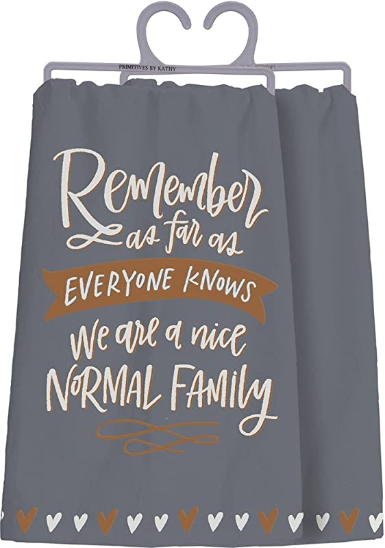 Primitives By Kathy Cotton Dish Towel Nice Normal Family