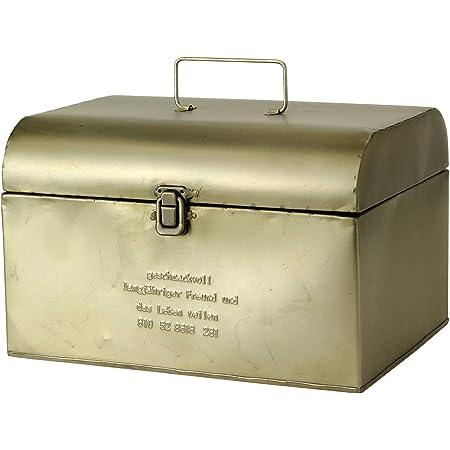 SPICE OF LIFE(スパイス) 収納 ボックス ブリキツールボックス ふた付き GESHMACK マットシルバー Lサイズ 29.5×22×18.5cm 道具入れ 救急箱 裁縫箱 GFA621L