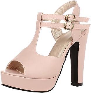 TAOFFEN Women Fashion Platform Sandals Heels
