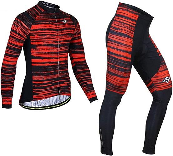 Maillot Cyclisme Sport Costume Velo Confortable VeteHommest Hiver Mode Manche Longue pour Plein Air Hommes Femmes