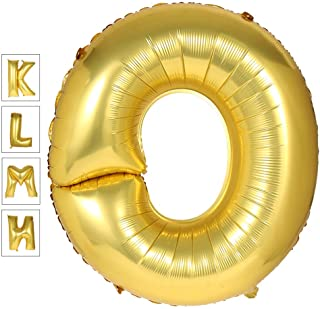 Lovne 40 Inch Jumbo Gold Alphabet O Balloon Giant Prom Balloons Helium Foil Mylar Huge Letter Balloons A to Z for Birthday Party Decorations Wedding Anniversary