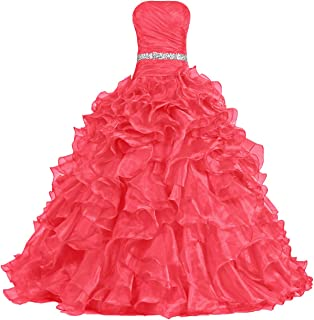 Best coral ruffle prom dress Reviews