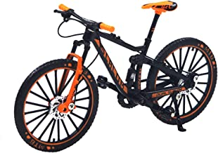 Ailejia Alloy Bicycles Model Racing Bike Mountain Finger Bicycle Toy Mini Bicycle Vehicles Model Decoration Crafts for Hom...