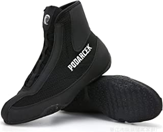 High Top Boxing Shoes, Unisex Wrestling Shoes Men's Wrestling Boots Lightweight Boxing Training Shoes for Adults Kids Wome...