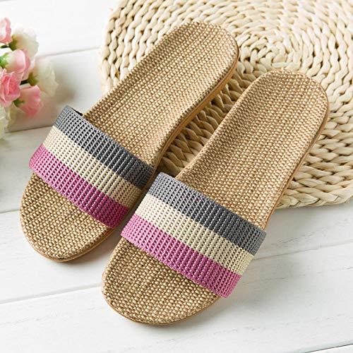 ypyrhh Sandalias Cómodo Casual Zapatos de Playa,Zapatillas de subaranda Interior, Zapatos de Pareja Antideslizante Gruesos-Sistema de Arco Iris púrpura_37-38,Chanclas Suaves y cómodas para Hombre