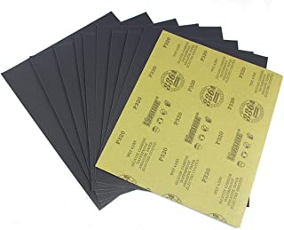 Sandpaper,Wet Dry Waterproof Sand Paper, 9 x 11 Inch, 320 Gritfor Wood Furniture Finishing, Metal Sanding and Automotive Polishing,10 Sheet