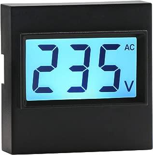 AC Digital Voltmeter, DROK AC 80V-500V Voltage Measuring Monitor Meter, LCD Display Voltage Detector Tester 110V 220V 380V Volt Reader Panel