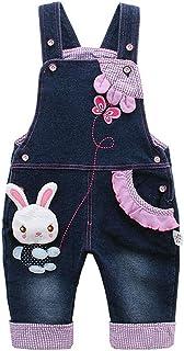 Kidscool Baby & Little Girls Rabbit Casual Soft Denim Overalls Jeans