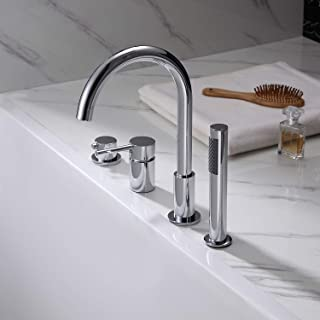 bathtub with faucet holes