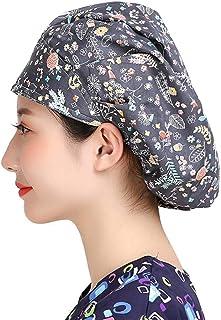 11645a5306b MAKEZTSD Adjustable Surgical Scrub Cap Medical Doctor Bouffant Hat  Sweatband Scrub Hat Women/Men