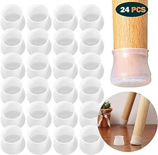 12-16MM Pata de la silla Protectores de piso Pata de la silla de PVC Pata para muebles Pata antideslizante Tapa del pie Copas Cubierta Protector de piso-16 piezas