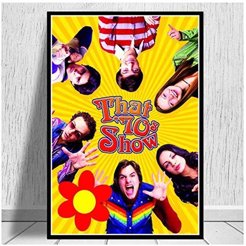 chtshjdtb Poster Drucke, die 70er Jahre Zeigen Klassische USA TV-Serie Freund Filmkunst Leinwand Malerei Wandbilder für Wohnzimmer Home Decor -50x75cm No Frame