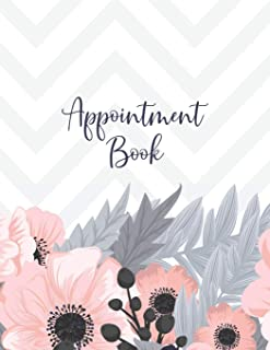Appointment Book: Featuring daily weekly calendar with 15 minute hourly intervals (7am-9pm) for scheduling, Hair Stylists, Salons, and Nail Salons. (pink pattern)