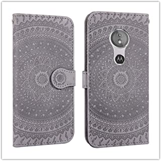For Sony Xperia L2 Pressed Printing Pattern Horizontal Flip PU Leather Case with Holder & Card Slots & Wallet && Lanyard New (Gray) Zhaoyy (Color : Gray)