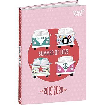 Quo Vadis PSG TEXTAGENDA Agenda scolaire Journalier 12x17cm Love Ann/ée 2020-2021
