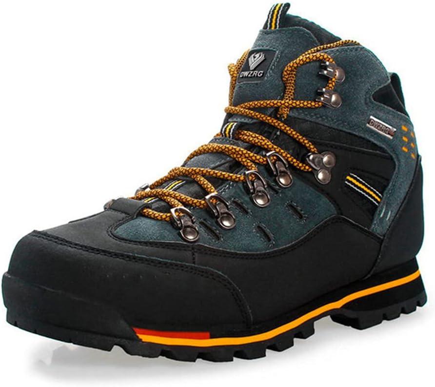 USDBE Men Hiking Shoes Waterproof Leather Shoes Climbing Fishing Outdoor Shoes