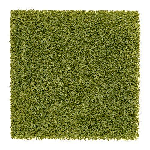 IKEA(イケア) HAMPEN 80x80 cm 30203789 ラグ パイル長、ブライトグリーンの写真