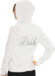 Bride, Bridal Party Zip Hoodie - Bride, Bridesmaid, Maid of Honor, Bride's Babes - Bachelorette Party Hoodie