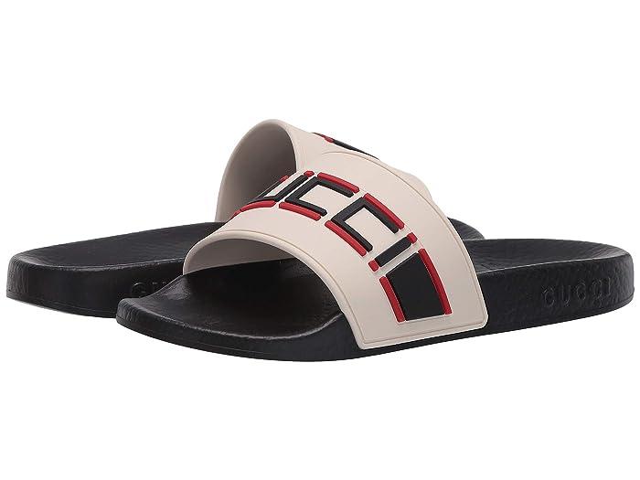 Gucci Kids  Pursuit Sandal (Little Kid) (Ecru/Poppy/Nero) Kids Shoes
