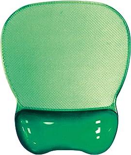 Aidata CGL003G Crystal Gel Mouse Pad Wrist Rest, Green, Ergonomic Design, Redistribute Pressure Points, Transparent Soft G...