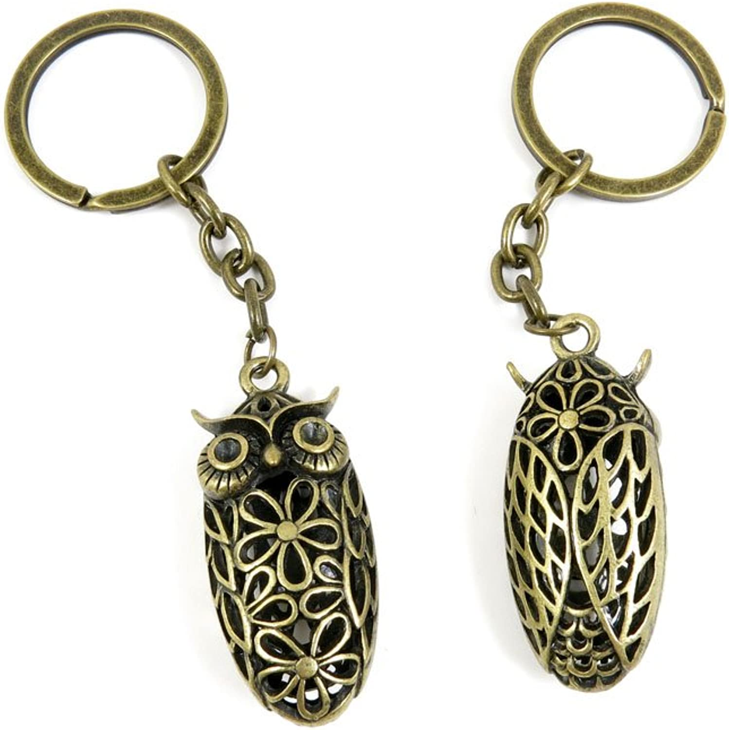 60 Pieces Fashion Jewelry Keyring Keychain Door Car Key Tag Ring Chain Supplier Supply Wholesale Bulk Lots K8WG8 Hollow Frog Prince