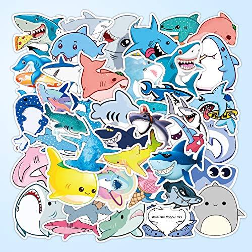 BUCUO Lindo tiburón Submarino Animal Pegatina de Dibujos Animados Lindo Material de Cuenta de Mano Caja del teléfono Diario Libro Caja de Auriculares Pegatina