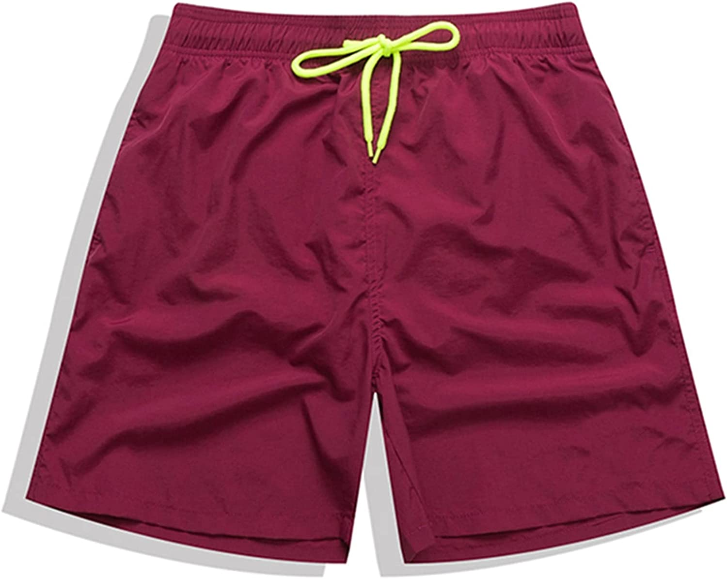TL TONGLING Mens Swim Trunks Men Board Shorts Swimming Trunks Running Swimsuit Beach Surfing Boardshort Sports Short Plus Size (Color : Wine red, Size : 4XL)