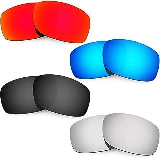 Mens Replacement Lenses For Oakley Fives Squared Red/Blue/Black/Titanium Sunglasses