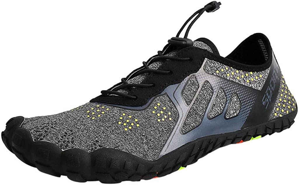FarJing Water Shoes for Womens Mens, Unisex Quick-Dry Water Shoes Pool Beach Swim Surf Drawstring Creek Diving Shoes